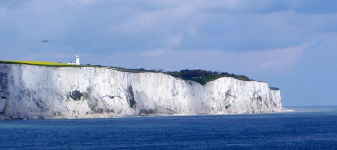Белые скалы Дувра — приближение к Англии